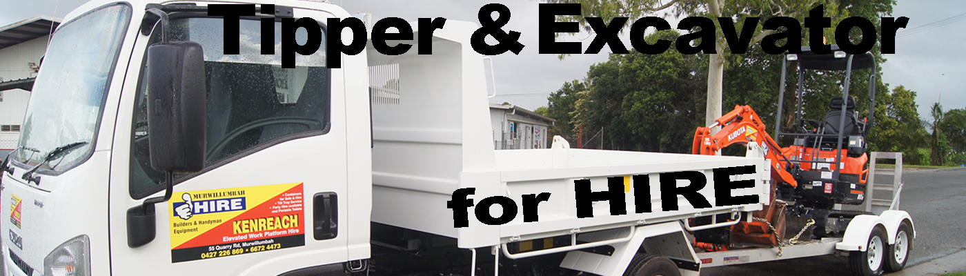 Tipper Truck and Excavator Hire Murwillumbah Hire