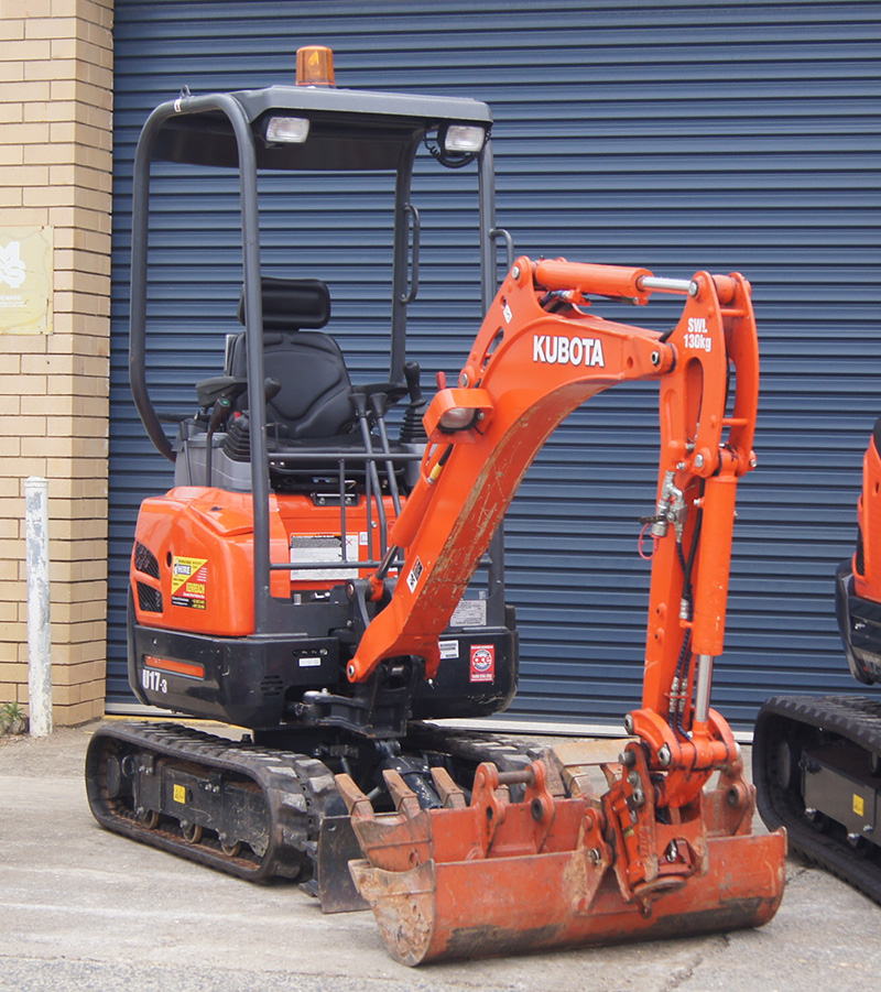Kubota Excavator Hire at Murwillumbah Hire and Kyogle Hire