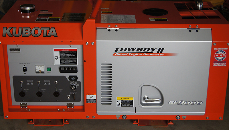 Kubota Diesel Engine Generator at Murwillumbah Hire